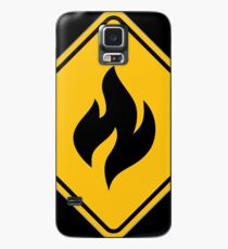 Fire Warning Sign Case/Skin for Samsung Galaxy