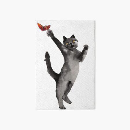 Cats and Butterflies Art Board Print