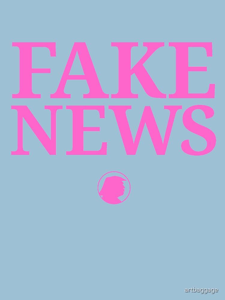 Fake News Trump Says Cool T-shirt by artbaggage