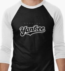 GenuineTee - Yankee(blackwhiteblack) Men's Baseball ¾ T-Shirt