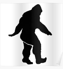 Bigfoot Silhouette  Poster