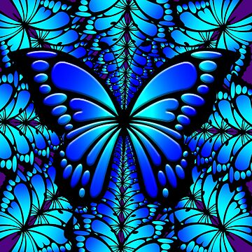 Blue Butterfly by Cliff
