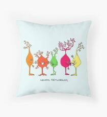 Neural Networking Throw Pillow