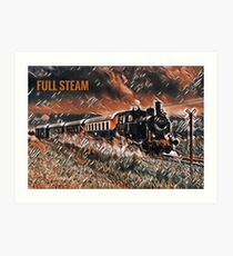 Full Steam - The Vintage Train Art Print