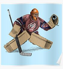 Ice Hockey Goalkeeper Poster