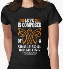 Love is Composed of a Single Soul Inhabiting Two Bodies! Self Injury Awareness  Women's Fitted T-Shirt