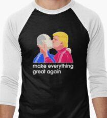 Funny Baby Trump Putin 2017 T Shirt Unisex Shirts Men's Baseball ¾ T-Shirt