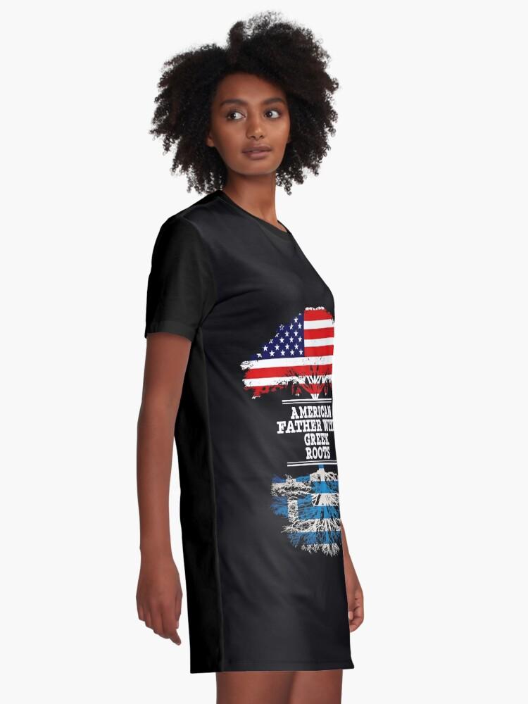 Vista alternativa de Vestido camiseta  American Father With Greek Roots - Gift For Greek Dad