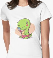 Baby T-Rex Women's Fitted T-Shirt