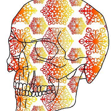 Skull - Hot Day in Hell by Kezzarama