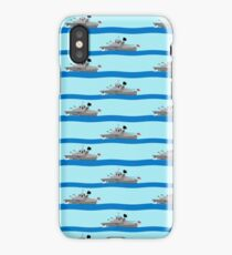 Royal Navy ships on the high seas. iPhone Case