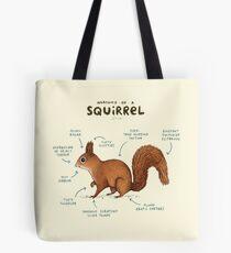 Anatomie eines Eichhörnchens Tote Bag