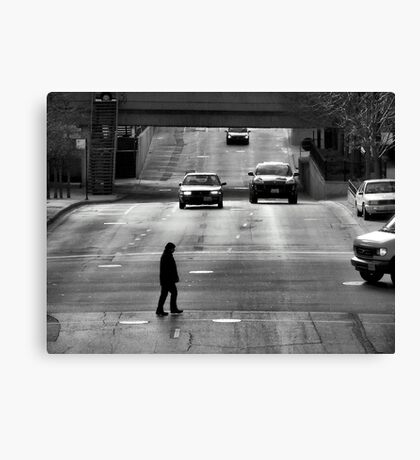 Trapped on the Street Canvas Print