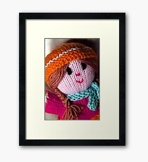 Knitted Doll Framed Print
