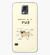 Anatomie eines Mops Hülle & Klebefolie für Samsung Galaxy