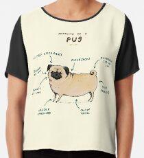 Anatomy of a Pug Chiffon Top