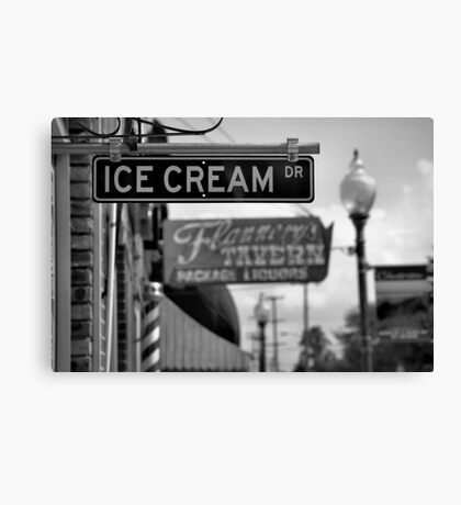 Small Town Ambience Canvas Print