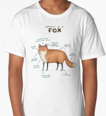 Anatomy of a Fox Long T-Shirt