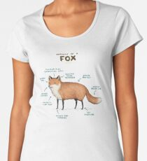 Anatomy of a Fox Women's Premium T-Shirt