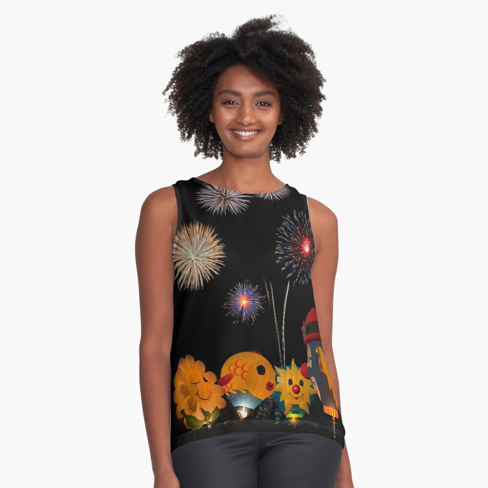 Flowery FireWorks Contrast Tank Front