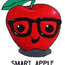 Food Pun - Smart Apple by artsbycheri