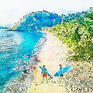 Island Surfers by Ruth Moratz
