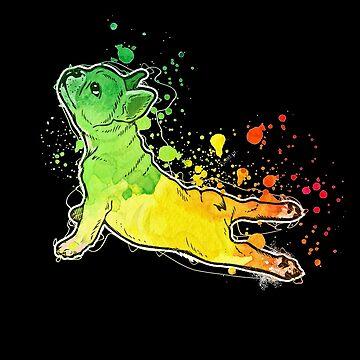 French Bulldog Yoga Namaste Shirt and Stickers by Joeby26