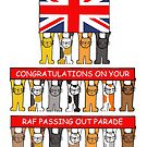RAF passing out parade congratulations. by KateTaylor