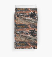 Full Steam - The Vintage Train Duvet Cover