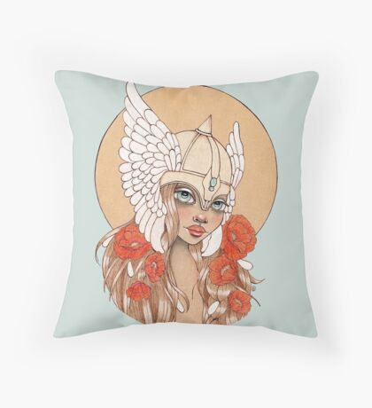 Valkyrie Throw Pillow