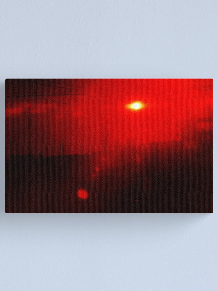 Alternate view of Fire in the Sky Canvas Print