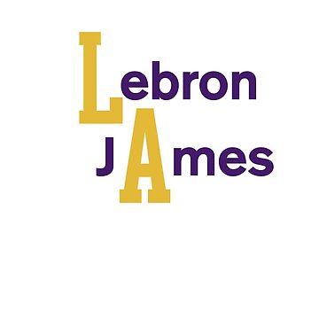 Lebron James LA by ohwhaleeatcake
