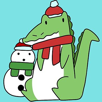 Alligator and Snowman by SaradaBoru