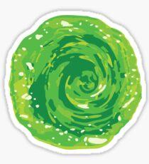 Rick & Morty Portal Sticker Sticker