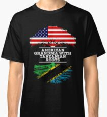 American Grandma With Tanzanian Roots - Gift For Tanzanian Grandmother Classic T-Shirt