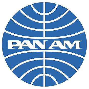 Pan Am Tshirt Pan Am Logo on Black Shirt Classic Defunct Airline by darkvortex