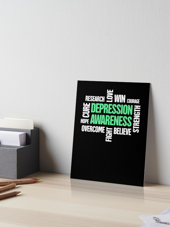 f8671c71b39 Words - Mental Health Depression Awareness | Art Board Print