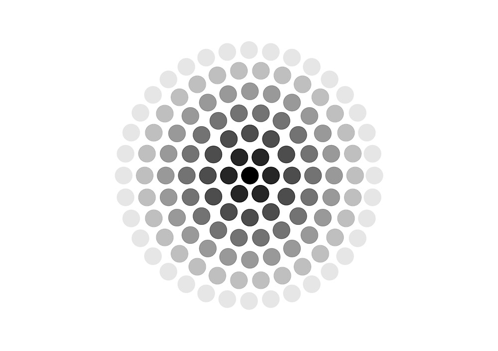 World Of Spots #Monochrome (abstract graphic art) by AbstractGraphic