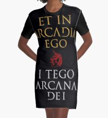 I Tego Arcana Dei Graphic T-Shirt Dress
