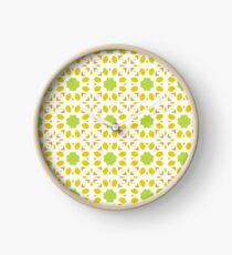 floral islamic mandala seamless colorful repeat pattern Clock