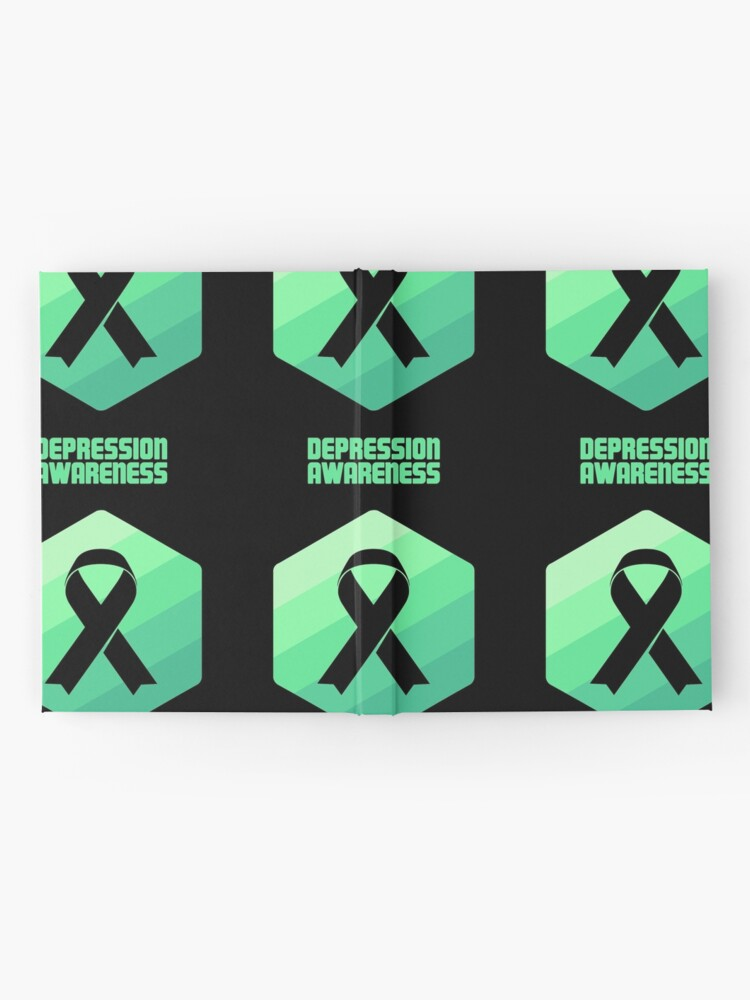 3b596247c85 Ribbon - Mental Health Depression Awareness | Hardcover Journal