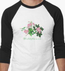 Forest Wildflowers / Dark Background Men's Baseball ¾ T-Shirt