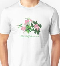 Forest Wildflowers / Dark Background Unisex T-Shirt