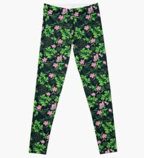 Forest Wildflowers / Dark Background Leggings