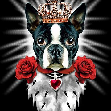 Boston Terrier King Crown Royal by Margarita-Art