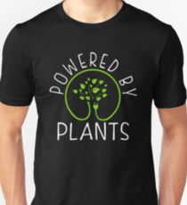 Powered by plants. Vegan Philosophy Unisex T-Shirt