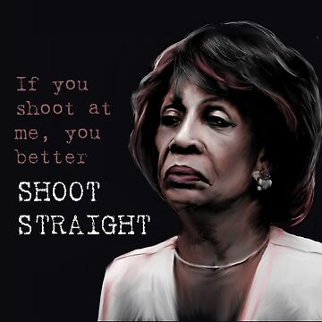 MAXINE WATERS - IF YOU SHOOT AT ME, YOU BETTER SHOOT STRAIGHT by nerd-girl-art