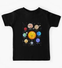 Solar system happy Kawaii style Kids Tee