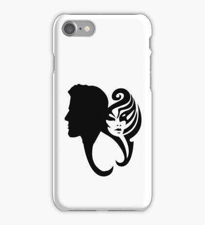Love - The Couple - Cool Man Woman Heart iPhone Case/Skin