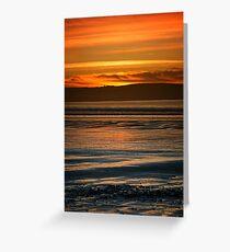 Dunnet Beach Sunset, Caithness, Scotland Greeting Card
